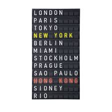 deco new york maison du monde toile aéroport 55 x 105 cm check in maisons du monde