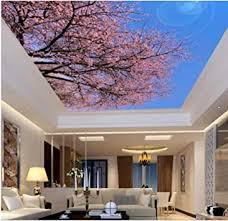 zybnb 3d blühenden blauen himmel decke wandbild für