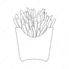 French fries hand drawing illustration — Vector by Alexcardo