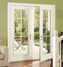 French Patio Doors With Built In Blinds by Outswing French Patio Doors With Blinds Sliding Screens Hinged