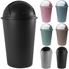 poubelle bureau poubelle corbeille 50 litres couvercle basculant 68cmx40cm noir