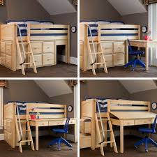 Study Environments for Small Spaces with Kids Loft Bed with Desk