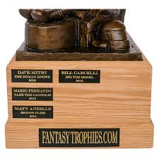 Fantasy Football Trophies | Handmade In Brooklyn Fantasy Football League Champion Trophy Award W Spning Monster Free Eraving Best 25 Football Champion Ideas On Pinterest Trophies Awesome Sports Awards 10 Best Images Ultimate Archives Champs Crazy Time Nears Fantasytrophiescom Where Did You Get Your League Trophy Fantasyfootball Baseball Losers Unique Trophies