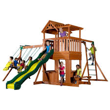 Backyard Discovery Thunder Ridge All Cedar Playset-36214com - The ... Backyard Discovery Dayton All Cedar Playset65014com The Home Depot Woodridge Ii Playset6815com Big Cedarbrook Wood Gym Set Toysrus Swing Traditional Kids Playset 5 Playground And Shenandoah Playset65413com Grand Towers Allcedar Playsets Amazoncom Kings Peak Monterey Playset6012com Wooden Skyfort