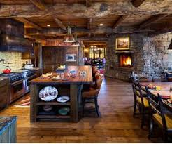 Rustic Log Cabin Kitchen Ideas by 10 Rustic Kitchen Designs With Unfinished Pine Kitchen Cabinets