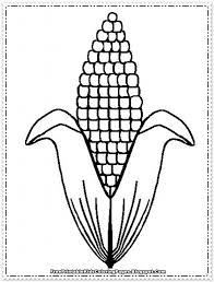 Corn Coloring Pages Printable