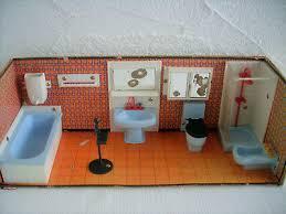 badezimmer modella puppenhaus puppenstube 70er jahre