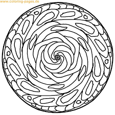 Complex Mandala Coloring Pages Mandalas With Flowers Vegetation 100