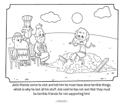 Jobs Friends Visit Coloring Page