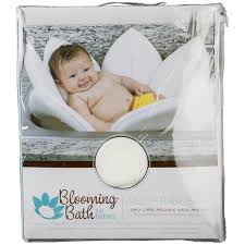 Puj Soft Infant Bathtub by Blooming Bath Baby Bath White Daisy Baby Bath Seat Baby Bath