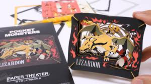 Pokemon DIY Paper Craft Lizardon Theater