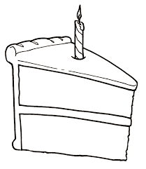 Free Clip art of Birthday Cake Clipart Black and White 3520 Best