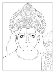 Hanuman Coloring Pages India Bollywood For Adults Free Download
