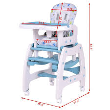 Costway Costway 3 In 1 Baby High Chair Convertible Play Table Seat