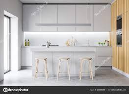 Modern White Kitchen Interior 3d Rendering Stockfoto Und Modern Cozy Disign Kitchen Interior With Furniture 3d Render 252586366