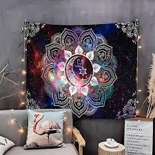 mandala böhmischen wandteppich kunst dekor decke vorhang hängen zu hause schlafzimmer wohnzimmer wohnheim dekoration boho hippie psychedelische