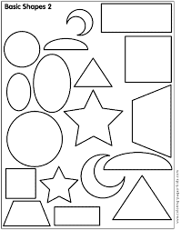 Basic Shapes 2 Color Page Shape Education School Coloring Pages Plate