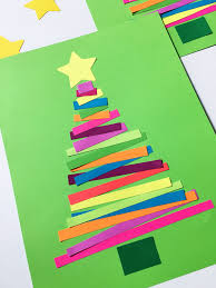 Construction Paper Christmas Crafts For Preschoolers Tree Kids Ja On Easy