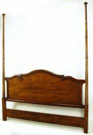 Tall Mahogany King Bed with Reeded Bamboo Posts For Sale at 1stdibs
