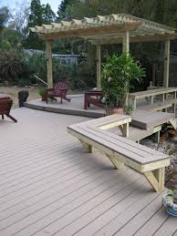 Trex Deck Boards Home Depot by Deck Bench A Corner Bench Between L Shaped Pergola Home Depot