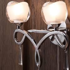marta glass wall light 2 light chrome from litecraft