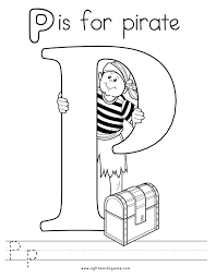 Letter P Coloring Pages Packed With Letter P Alphabet Coloring