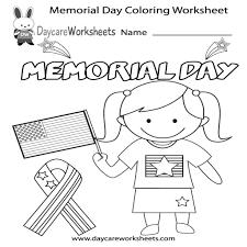 Memorial Day Coloring Worksheet Printable