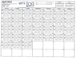 A Work Log Calendar That Would Help Me In Recording The Number Of Hours Each Day And Month I Spend On Any Project Sample Is