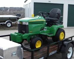 John Deere Stx38 Yellow Deck Removal by Getting Weight Onto The Front Of A Gt235 Mytractorforum Com