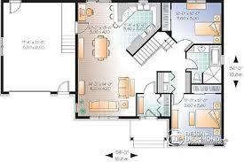 plan de maison 2 chambres d du plan de maison unifamiliale w2163 v2 rez chaussee