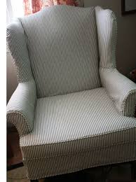 Pin By Holly Sorensen On Vintage Home Style In 2019 | Slipcovers For ... Refreshing Easy Diy Striped Chair Slipcover That Exude Luxury Amazoncom Harmony Slipcovers Rose Stripe Wingback Fits S Wingback Grey Themaspring Striped Wingback Chair Dentprofessionalinfo Stretch Pinstripe One Piece Wing Tcushion Slipcovers Uk Avalonmasterpro White Tikami Fniture Excellent Covers For Elegant Interior Back Cover Denim Double Diamond Sure Fit Wingchair