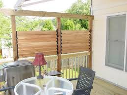 DIY Simple Louvered Privacy Fence For Deck / Patio In Your ... Outdoor Privacy Wall Modern Minimalist Decoration Dividers For Privacy Fencing Ideas For Backyards Backyard Fence Ideas Deck Pictures Deks And Tables With A Interesting Home Backyards Fascating Fniture Images About And Divider 2017 Savwicom 27 Ways To Add Your Hgtvs Decorating Cheap Peiranos Fences Unique City Backyard Landscape Contemporary With Garden Concrete Living Garden Design Along Interior Keep Private Space Wondrous Screens An Almost