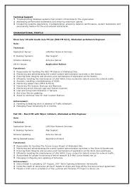 Technical Support Engineer Resume Network Sample Objective