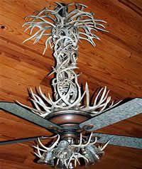 another antler ceiling fan cabin decor ceiling fan