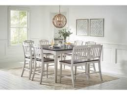 Jofran Orchard ParkCounter Height Table W 6 Chairs Bench