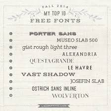 My Top 10 Free Fonts For Fall