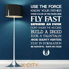 Ebay Wall Decor Quotes by Aliexpress Com Buy Star Wars Quote Use The Force Wall Art