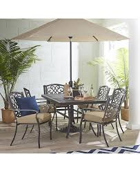 Furniture CLOSEOUT Park Gate Outdoor Cast Aluminum 7 Pc Dining Set 68 X 38 Table And 6 Chairs Created For Macys