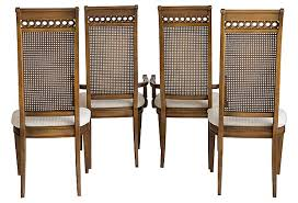 Thomasville Cane Back Dining Chairs Janney S Collection Rh Janneyscollection Com Wood And Wicker Gray