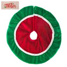 Red White Green Miniature Plush Tree Skirt