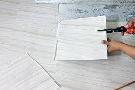 self stick vinyl floor tile cutting peel and stick vinyl tile self