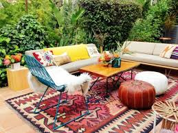 Floor & Rug Moroccan Pouf Ottoman And Outdoor Sofa With Outdoor
