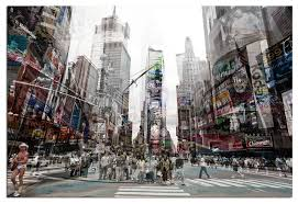 New York Wall Art Tempered Glass 3d Times Square 4