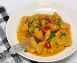 Pumpkin Gnocchi Recipe by A Sense Of Occasion Pumpkin Gnocchi With Red Thai Curry Sauce