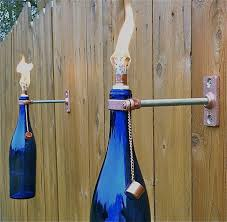 Citronella Lamp Oil Amazon by Cobalt Blue Wine Bottle Tiki Torches Will Add Stylish Lighting To