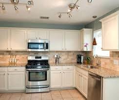 light blue kitchen white cabinets 11967