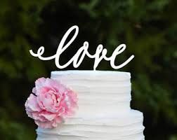Love Wedding Cake Topper Rustic For