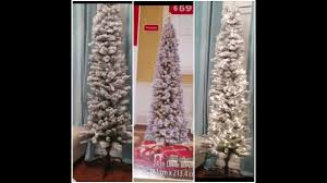 Snow Flocked Slim Christmas Tree by Walmart 69 Flocked Slim 7 Ft Christmas Tree Review Youtube