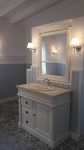 badezimmer schrank weiß mit schubladen im landhaus design