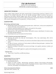 Sample Chemistry Resume Here Are Lab Technician